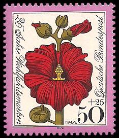 50 + 25 Pf Briefmarke: 25 Jahre Wohlfahrtsmarken