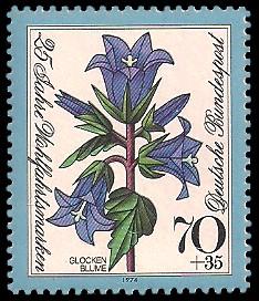 70 + 35 Pf Briefmarke: 25 Jahre Wohlfahrtsmarken
