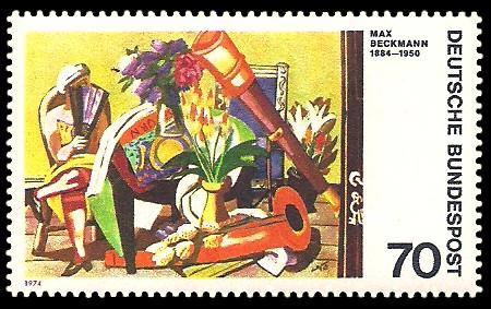 70 Pf Briefmarke: Moderne Gemälde
