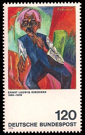 120 Pf Briefmarke: Moderne Gemälde