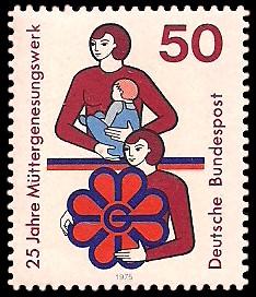 50 Pf Briefmarke: 25 Jahre Müttergenesungswerk