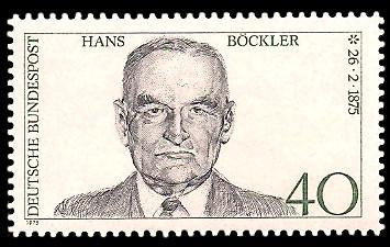 40 Pf Briefmarke: 100. Geburtstag Hans Böckler