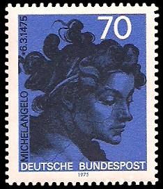 70 Pf Briefmarke: 500. Geburtstag Michelangelo