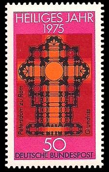 50 Pf Briefmarke: Heiliges Jahr 1975