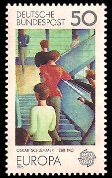 50 Pf Briefmarke: Europamarke 1975, Gemälde