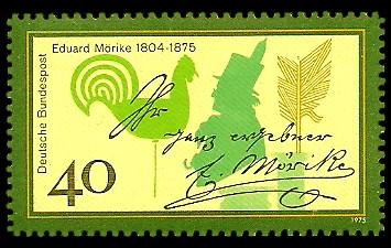 40 Pf Briefmarke: 100. Todestag Eduard Mörike