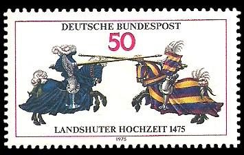 50 Pf Briefmarke: Landshuter Hochzeit 1475