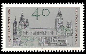 40 Pf Briefmarke: 1000 Jahre Mainzer Dom