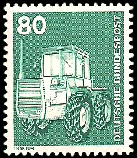 80 Pf Briefmarke: Industrie und Technik