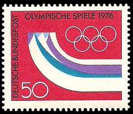 50 Pf Briefmarke: Olympische Spiele 1976