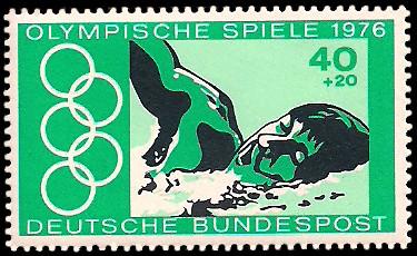 40 + 20 Pf Briefmarke: Olympische Spiele 1976