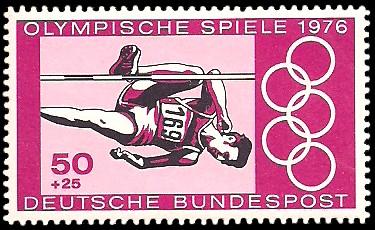 50 + 25 Pf Briefmarke: Olympische Spiele 1976