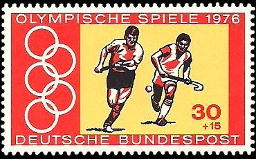 30 + 15 Pf Briefmarke: Olympische Spiele 1976