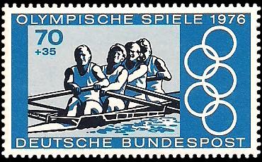70 + 35 Pf Briefmarke: Olympische Spiele 1976