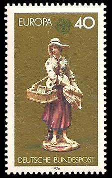 40 Pf Briefmarke: Europamarke 1976, Kunsthandwerk