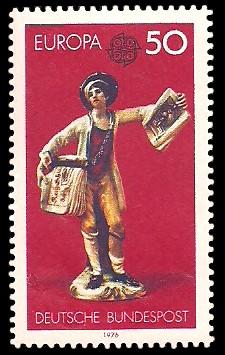 50 Pf Briefmarke: Europamarke 1976, Kunsthandwerk