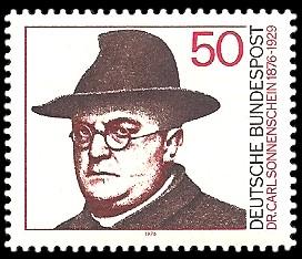 50 Pf Briefmarke: 100. Geburtstag Carl Sonnenschein