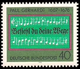 40 Pf Briefmarke: 300. Todestag Paul Gerhardt