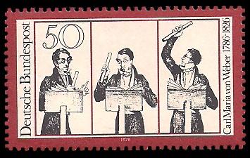 50 Pf Briefmarke: 150. Todestag Carl Maria von Weber