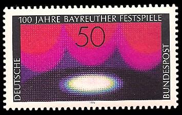 50 Pf Briefmarke: 100 Jahre Bayreuther Festspiele