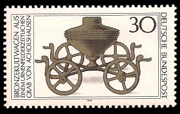 30 Pf Briefmarke: Archäologische Funde