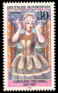 30 Pf Briefmarke: Deutsche Schauspielerinnen