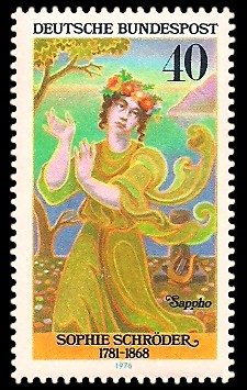 40 Pf Briefmarke: Deutsche Schauspielerinnen