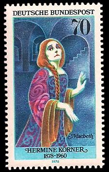 70 Pf Briefmarke: Deutsche Schauspielerinnen