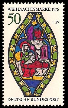 50 + 25 Pf Briefmarke: Weihnachtsmarke 1976