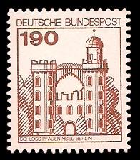 190 Pf Briefmarke: Burgen und Schlösser