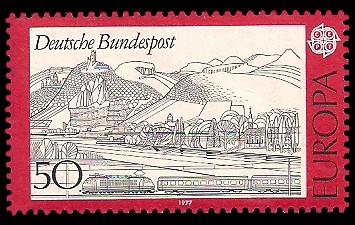 50 Pf Briefmarke: Europamarke 1977, Landschaften