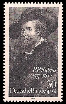 30 Pf Briefmarke: 400. Geburtstag Peter Paul Rubens