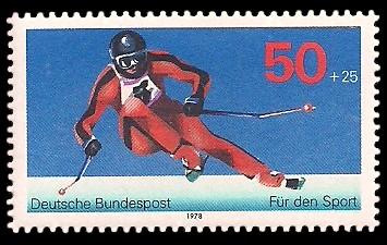 50 + 25 Pf Briefmarke: Für den Sport