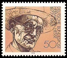 50 Pf Briefmarke: Nobelpreisträger deutschsprachiger Literatur