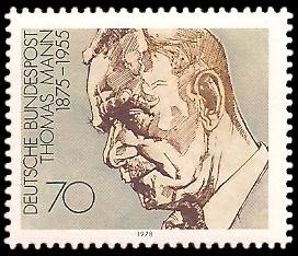 70 Pf Briefmarke: Nobelpreisträger deutschsprachiger Literatur