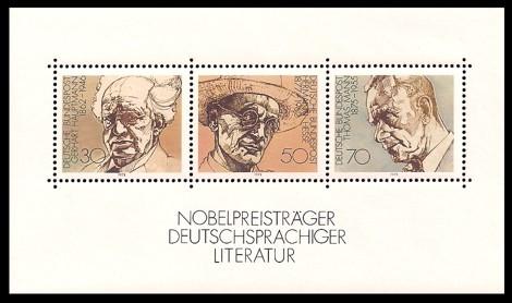 Briefmarke: Block: Nobelpreisträger deutschsprachiger Literatur