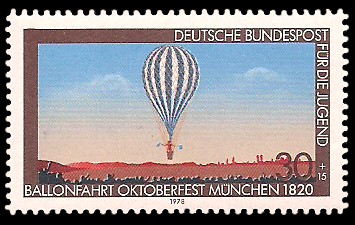 30 + 15 Pf Briefmarke: Für die Jugend, Luftfahrt
