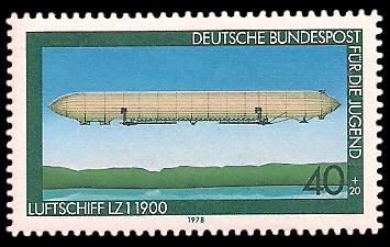 40 + 20 Pf Briefmarke: Für die Jugend, Luftfahrt