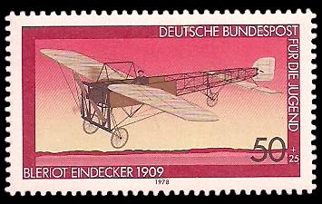 50 + 25 Pf Briefmarke: Für die Jugend, Luftfahrt