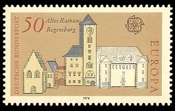 50 Pf Briefmarke: Europamarke 1978, Baudenkmäler