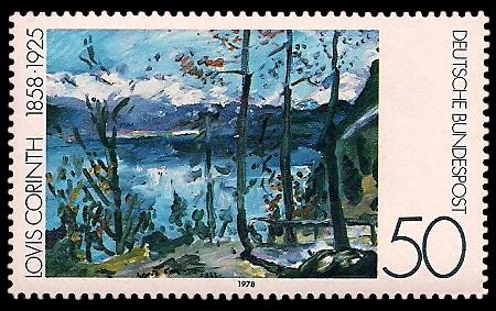 50 Pf Briefmarke: Moderne Gemälde