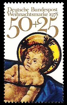 50 + 25 Pf Briefmarke: Weihnachtsmarke 1978