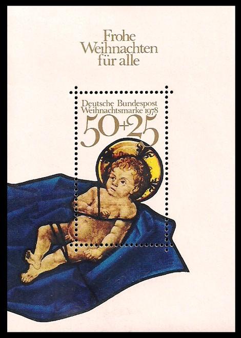Briefmarke: Block mit Weihnachtsmarke 1978