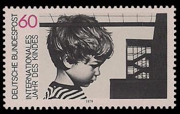 60 Pf Briefmarke: Internationales Jahr des Kindes