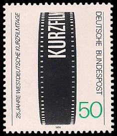50 Pf Briefmarke: 25 Jahre Westdeutsche Kurzfilmtage