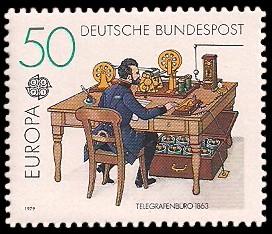 50 Pf Briefmarke: Europamarke 1979, Postgeschichte