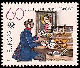 60 Pf Briefmarke: Europamarke 1979, Postgeschichte