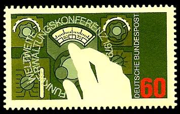 60 Pf Briefmarke: Weltweite Funkverwaltungskonferenz 1979