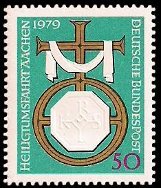 50 Pf Briefmarke: Heiligtumsfahrt Aachen