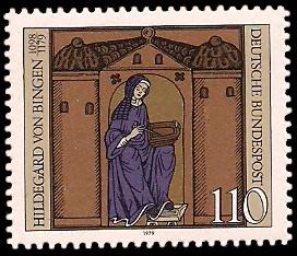 110 Pf Briefmarke: 800. Todestag Hildegard von Bingen